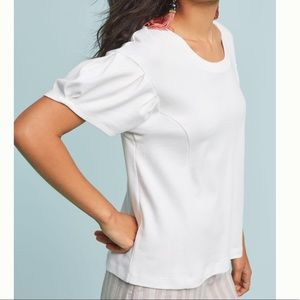 Pleated shoulder tee, Anthropologie